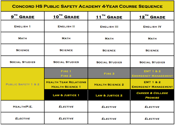 4-year course sequence