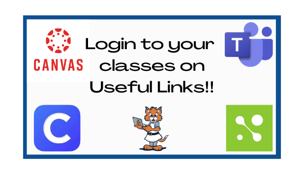 Login to your classes from the Useful Links Section.