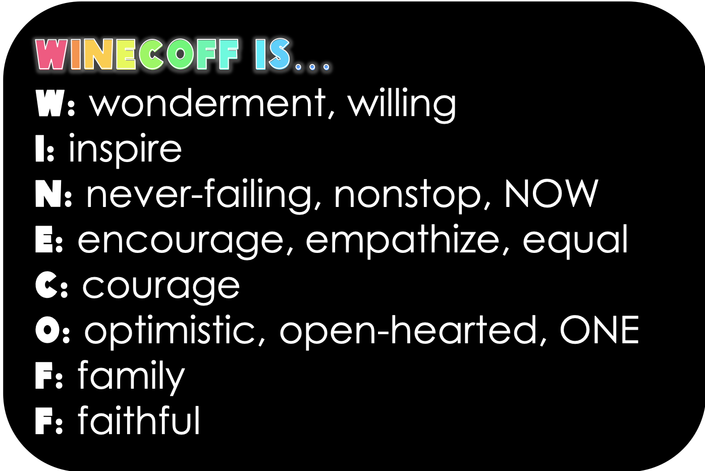 Winecoff is...