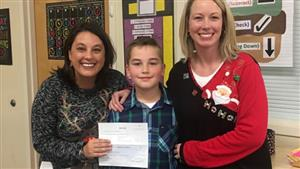 Alex R. raised over $350.00 to help support student lunch balances at WHES!