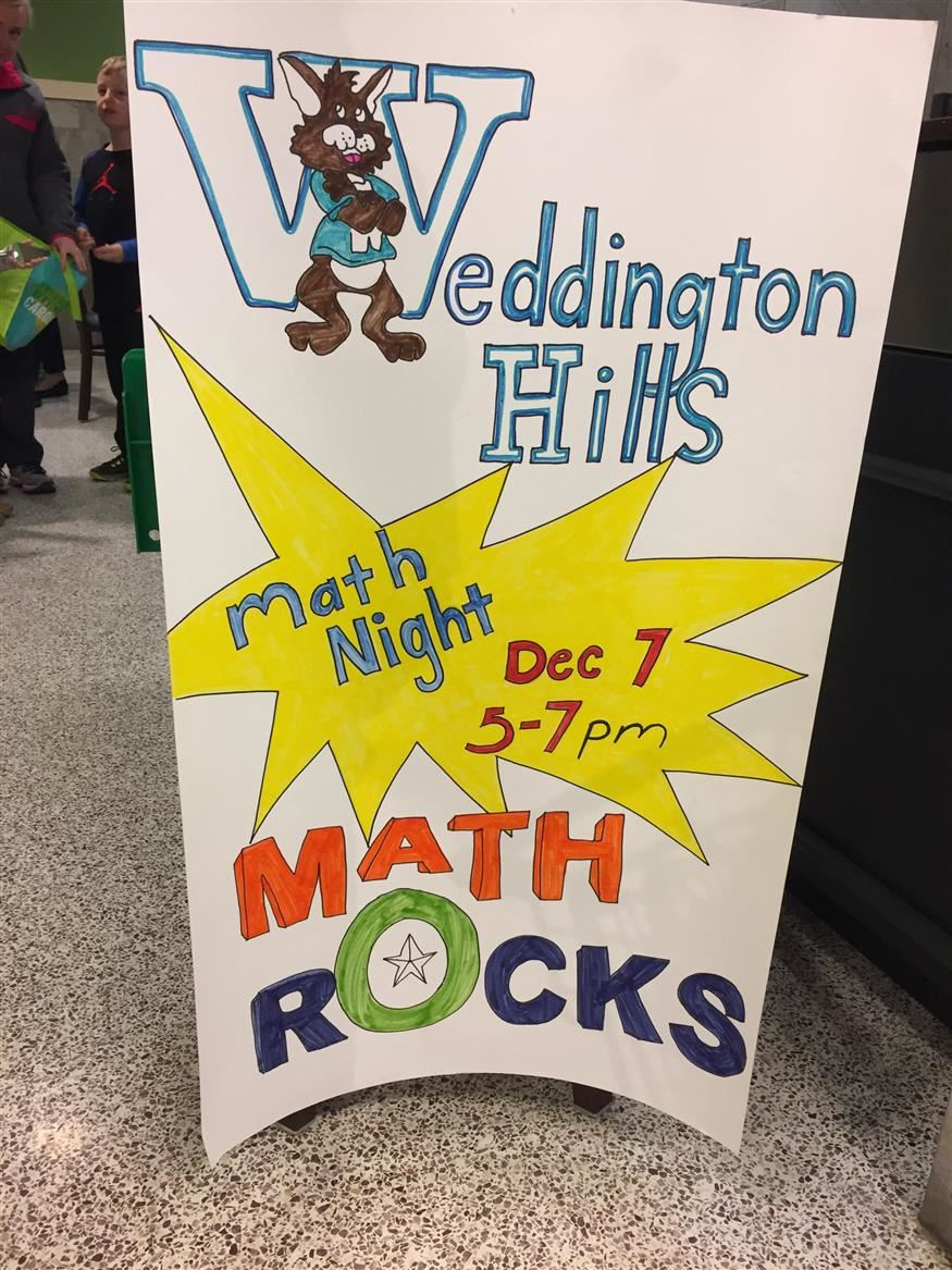 WHES First Annual Math Night at Publix Rocked!