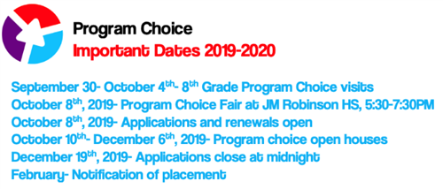program choice dates