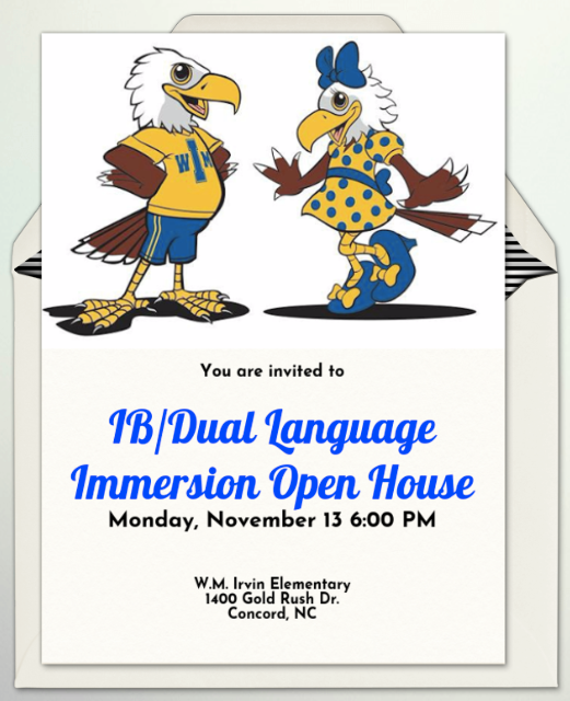 IB/Dual Language Open House: Thurs., Dec. 7 from 6-7:30 pm