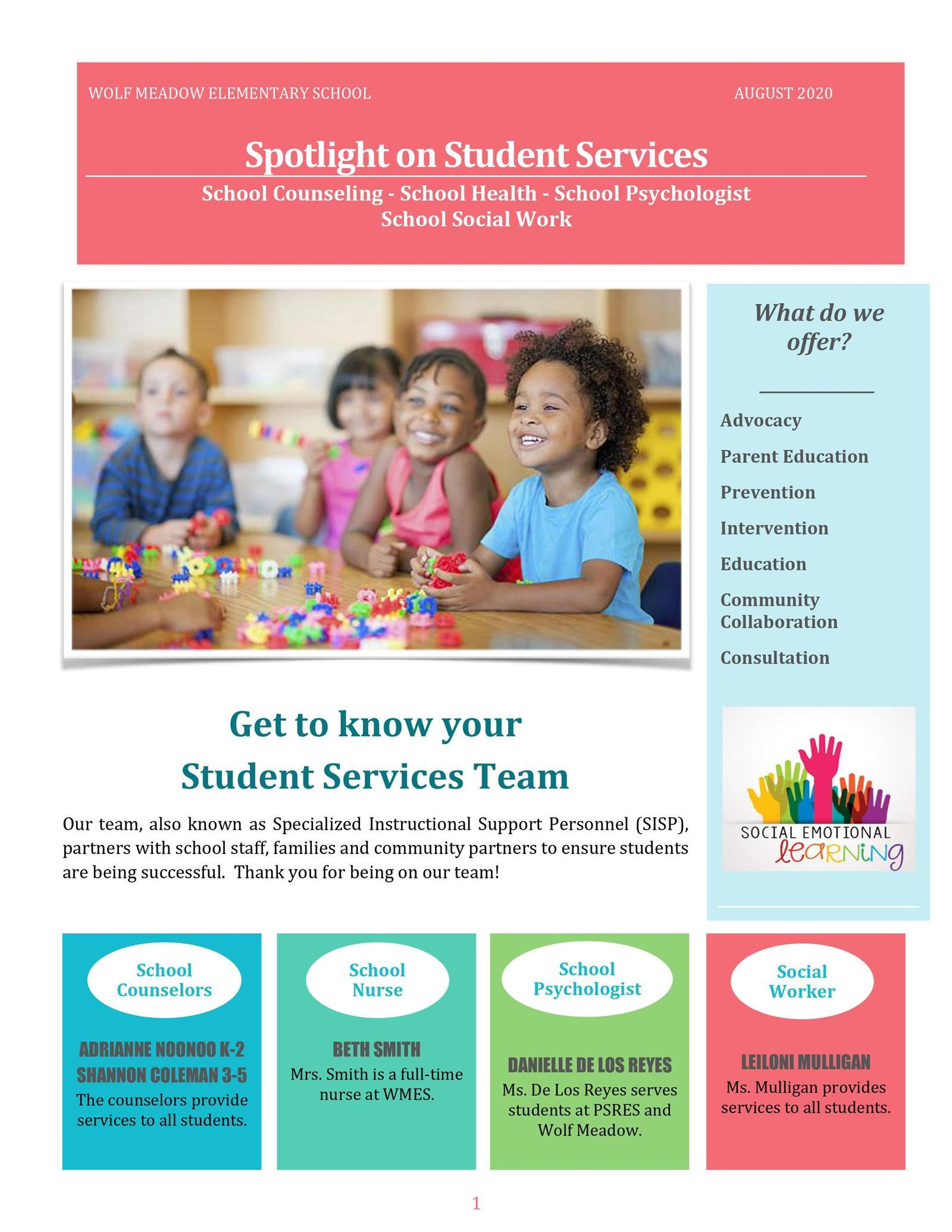 Spotlight on Student Services