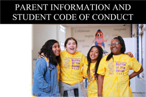 The 2020-2021 Parent Information and Student Code of Conduct handbook is available online