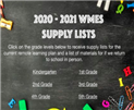WMES Supply Lists