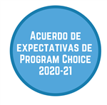 Acuerdo de expectativas de  Program Choice 2020-21