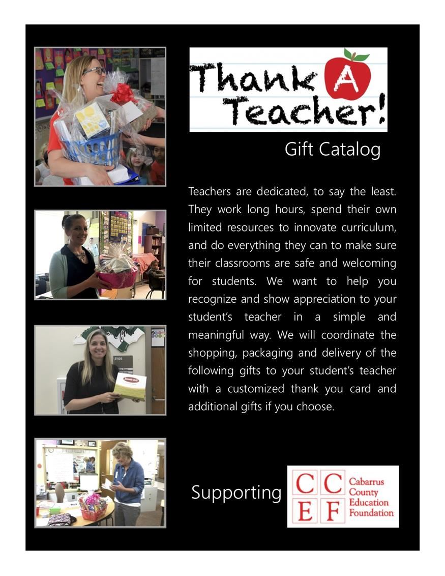 CCEF Thank-a-Teacher Gift Catalog
