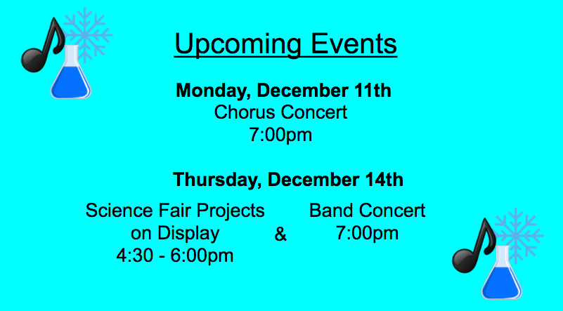 Upcoming December Events