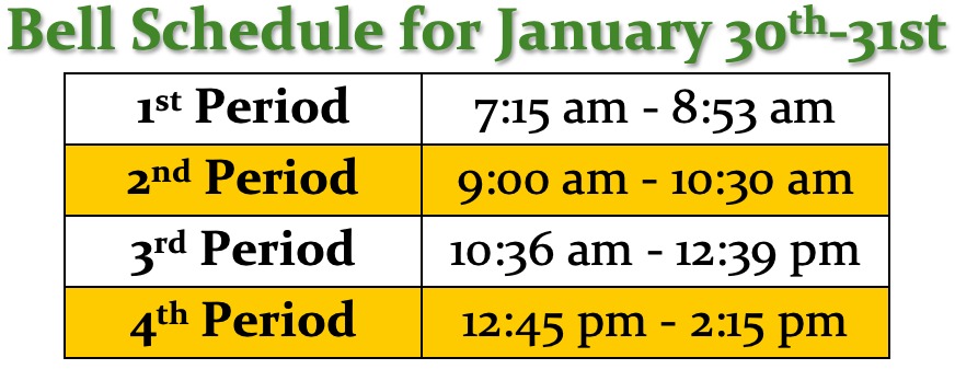 Thurs-Fri Bell Schedule