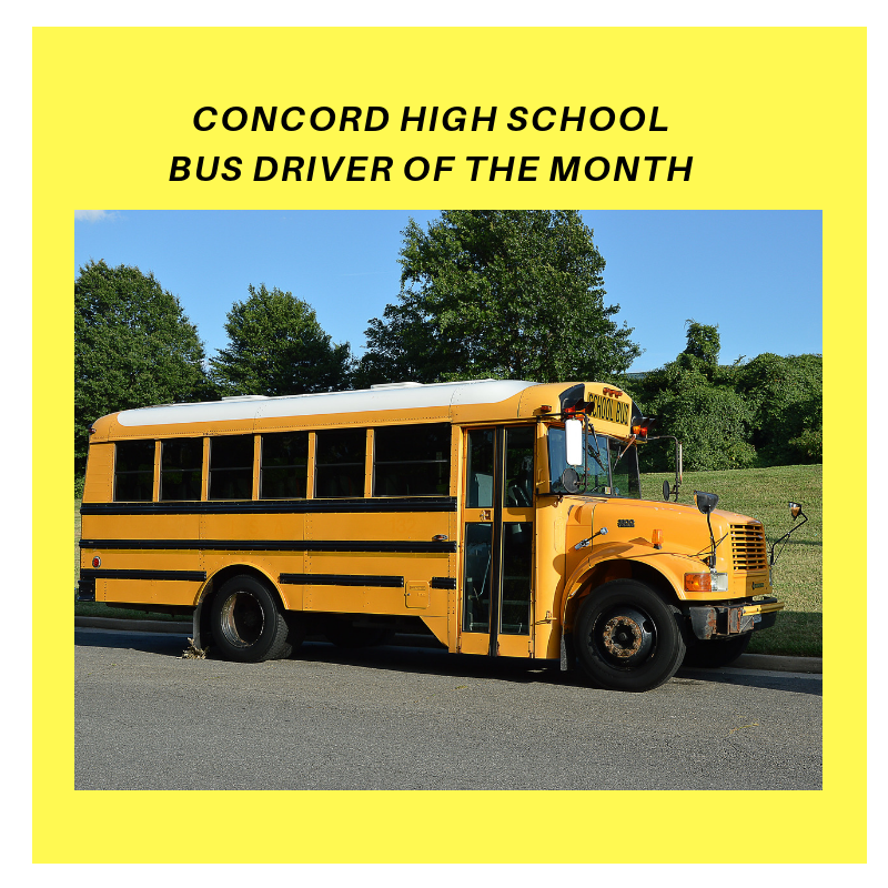 CHS Bus Driver of the Month