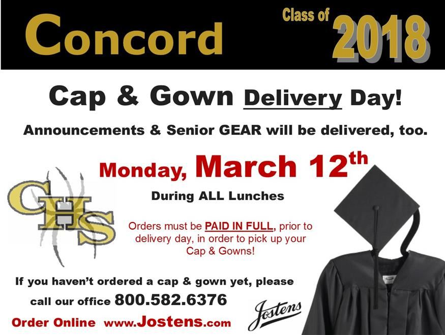 cap and gown delivery