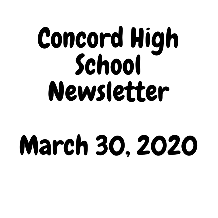 March 30 Newsletter - Important Information