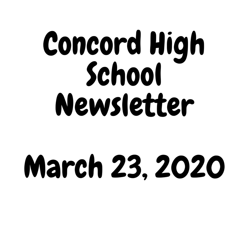 March 23, 2020 Newsletter - This newsletter provides important information! Please read.
