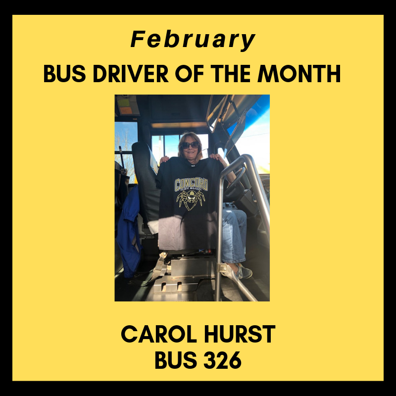 February Bus Driver of the Month