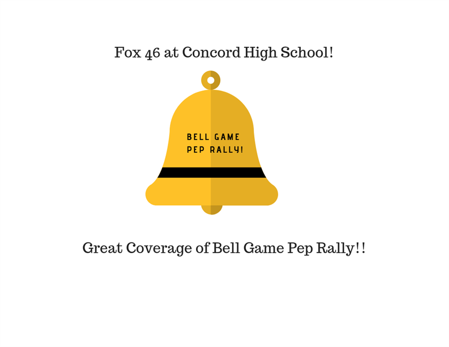 Fox 46 Comes to Concord High School!  Great Videos of Pep Rally!