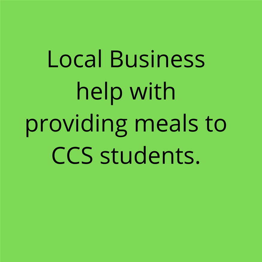 Local Business offers help with Providing Students with Meals