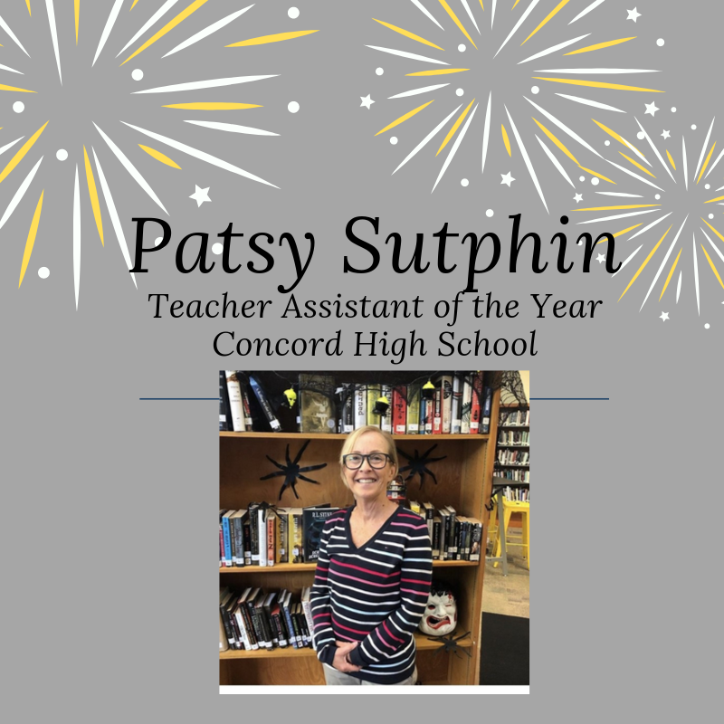 Patsy Sutphin - CHS Teacher Assistant of the Year