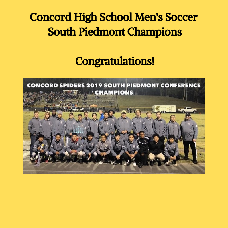 Men's Soccer South Piedmont Champions