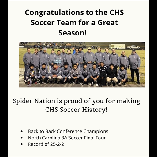 Spider Nation is Proud of CHS Soccer