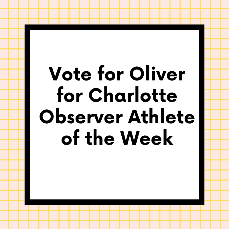 Vote for Oliver as Athlete of the week Player!