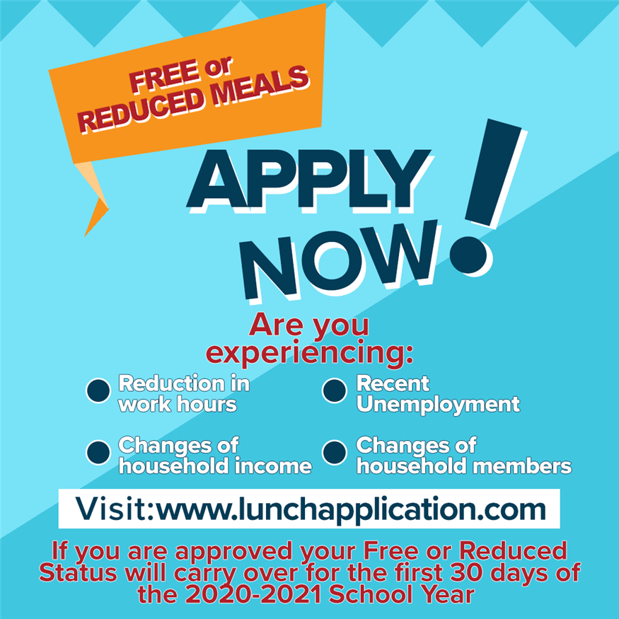 Apply for Free or Reduced Lunch Now