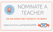 Click for Teacher of the Month Nomination Form