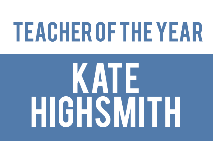 Highsmith Named Teacher of the Year