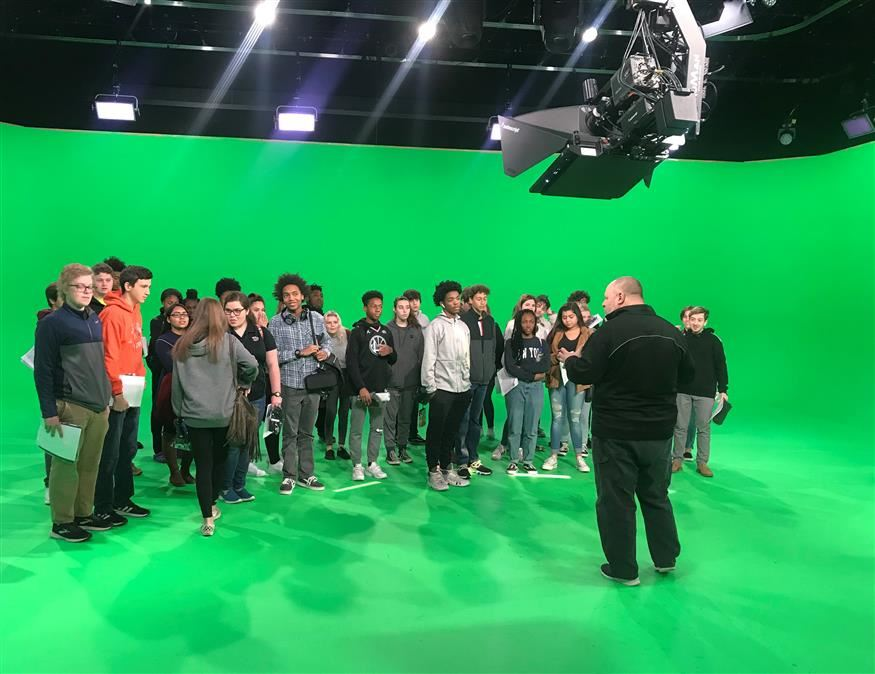 JMRHS Broadcasting Classes Take A Trip To Fox Sports Studios