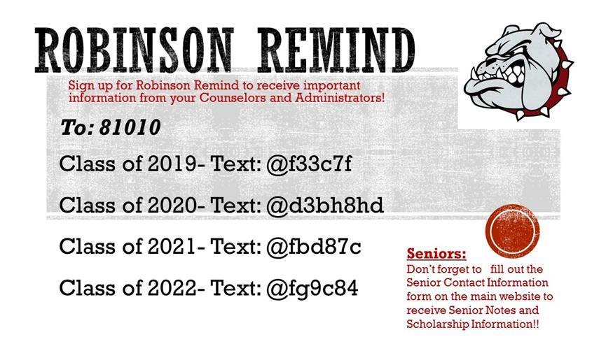 Sign Up For Remind 101 Text Reminders!