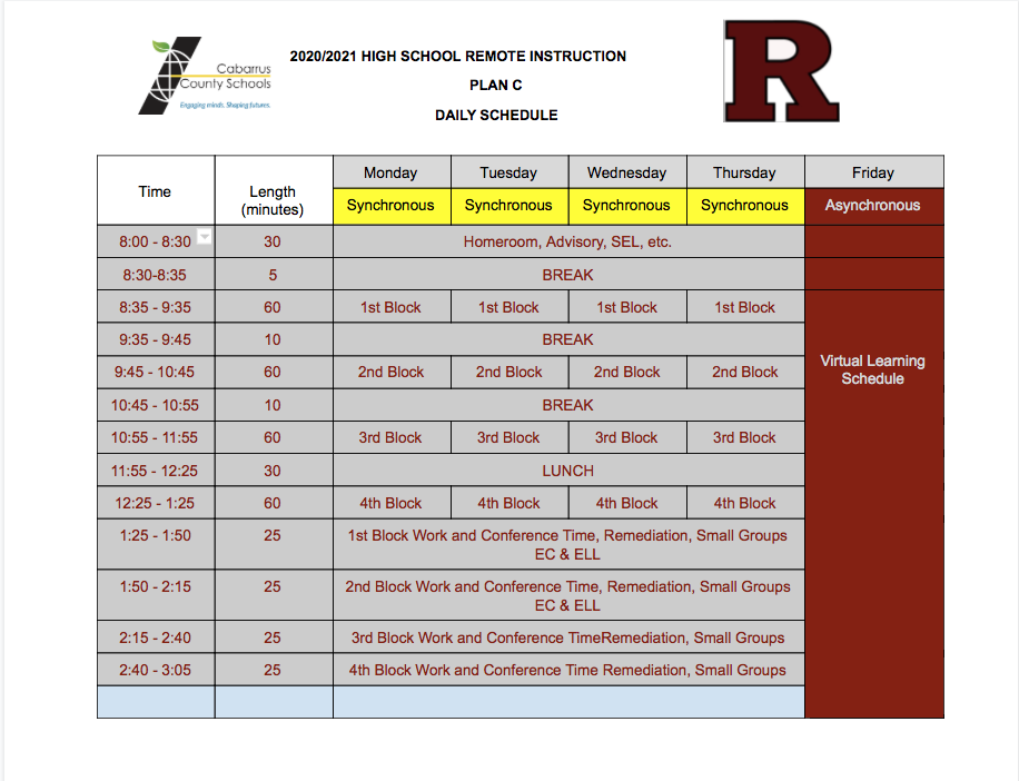 JMRHS Virtual Schedule