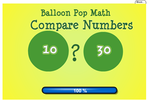 Balloon Pop Compare Numbers