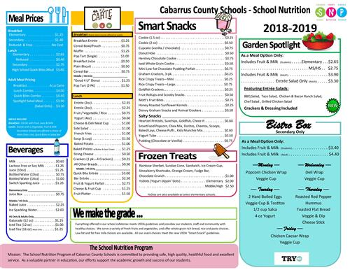 School Nutrition / Menus