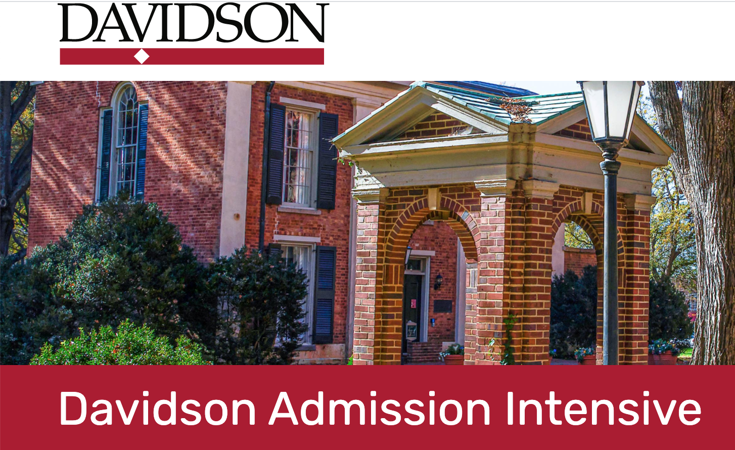 Davidson College Offers Admission Workshops