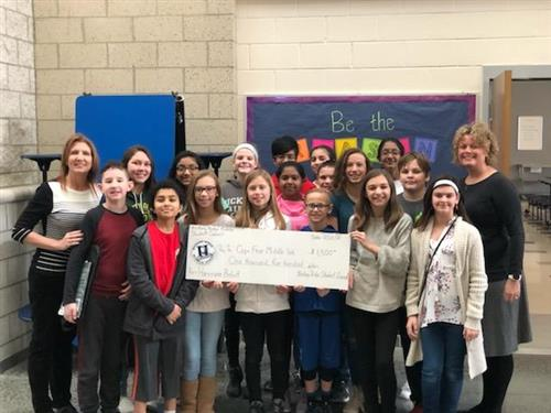 Our student council donated $1,500 to Pender County School for Hurricane Relief