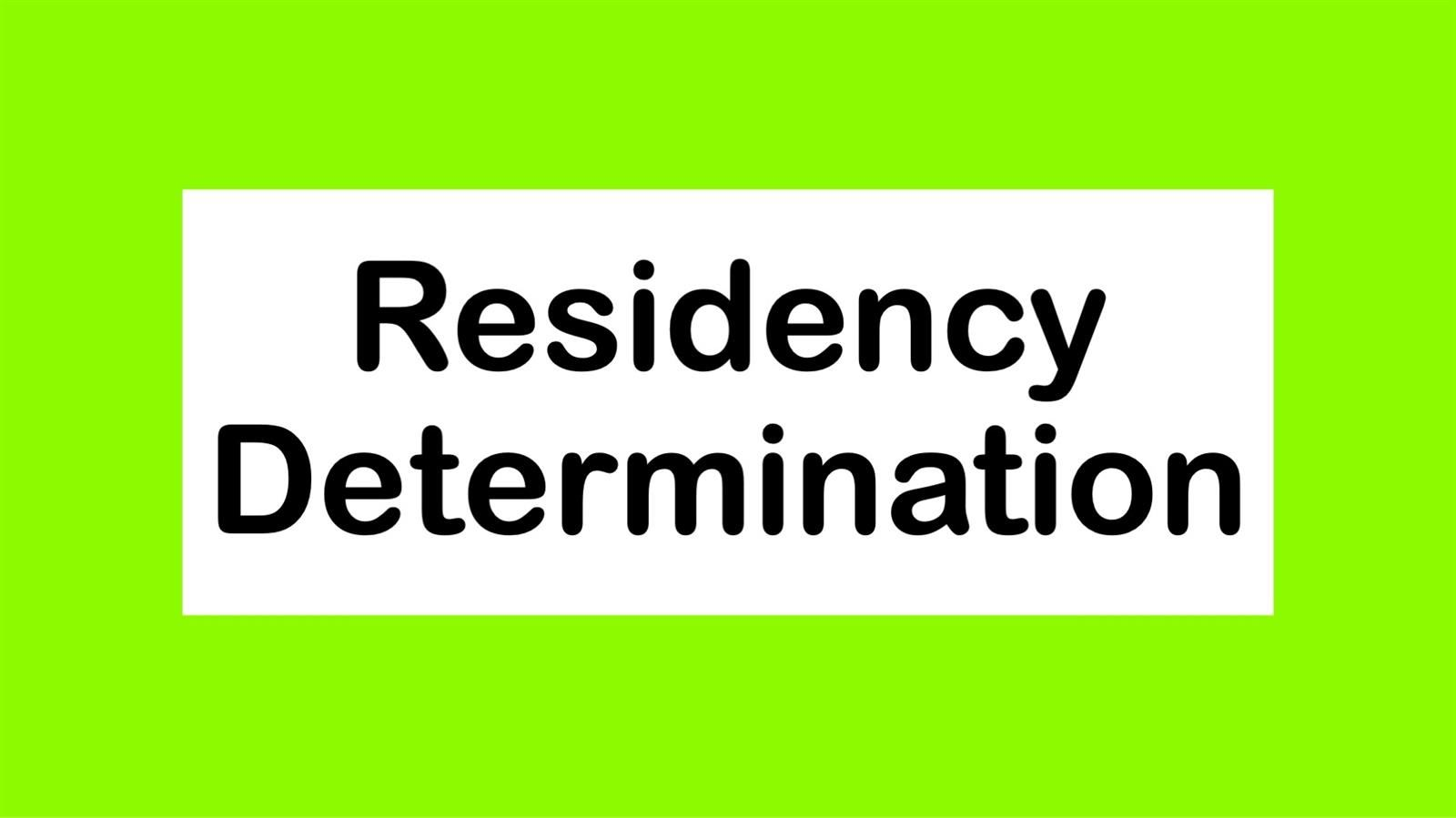 Residency Determination Services (RDS)