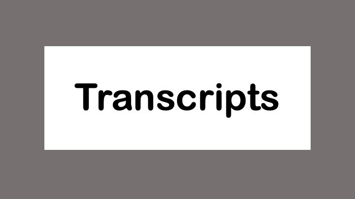 Transcripts: Sending & Troubleshooting