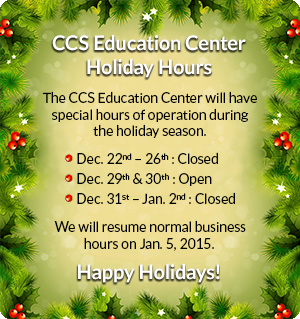 2014-15 Winter Break Hours of Operation