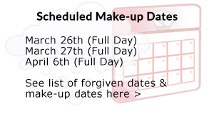 Make-up Dates Information